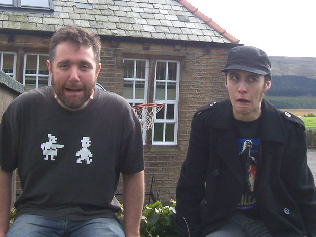 Bob and Drew in Holmfirth, 2009. Gahaha, I 'ate you Butler, etc