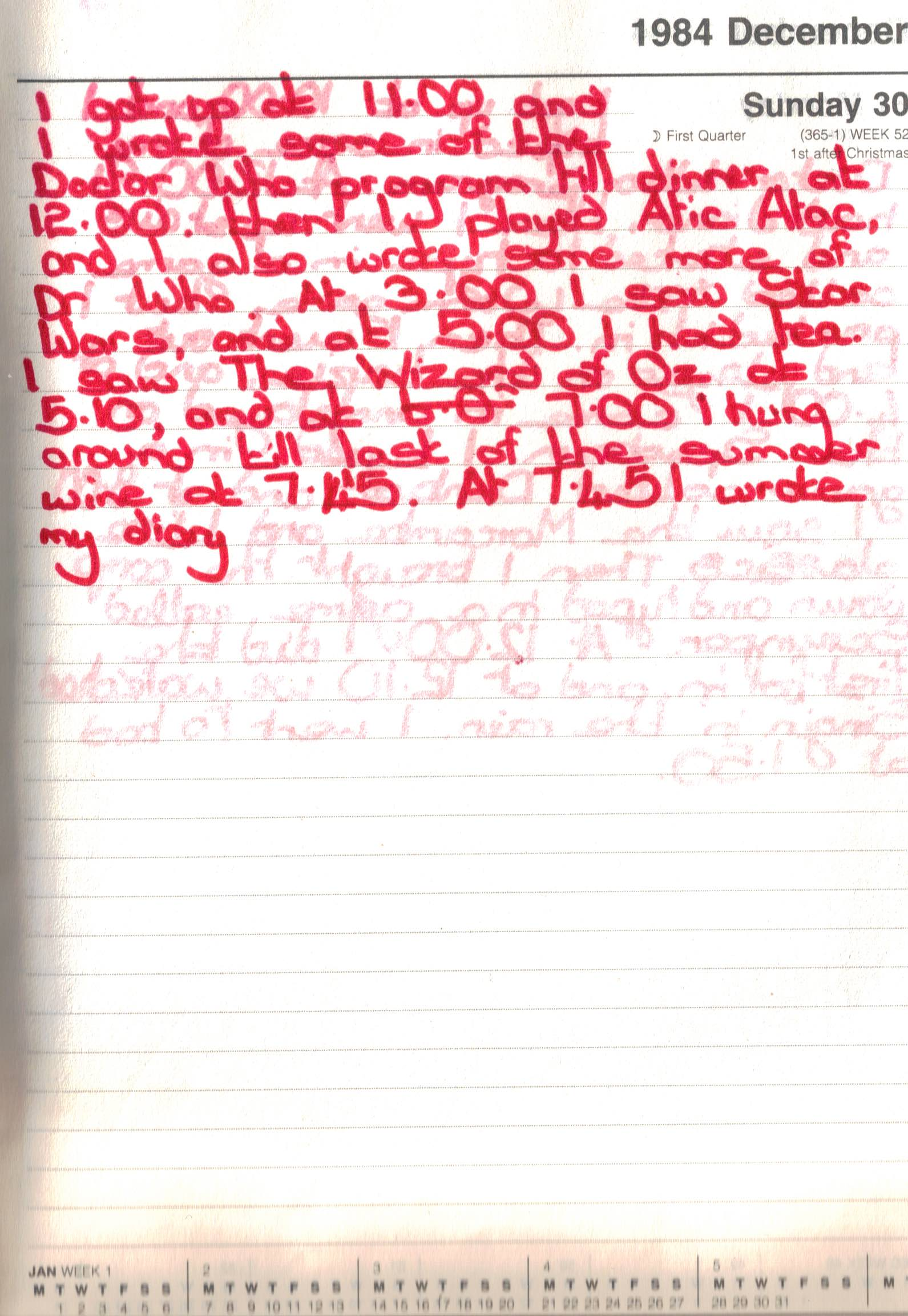 1984 Diary 30th December copy
